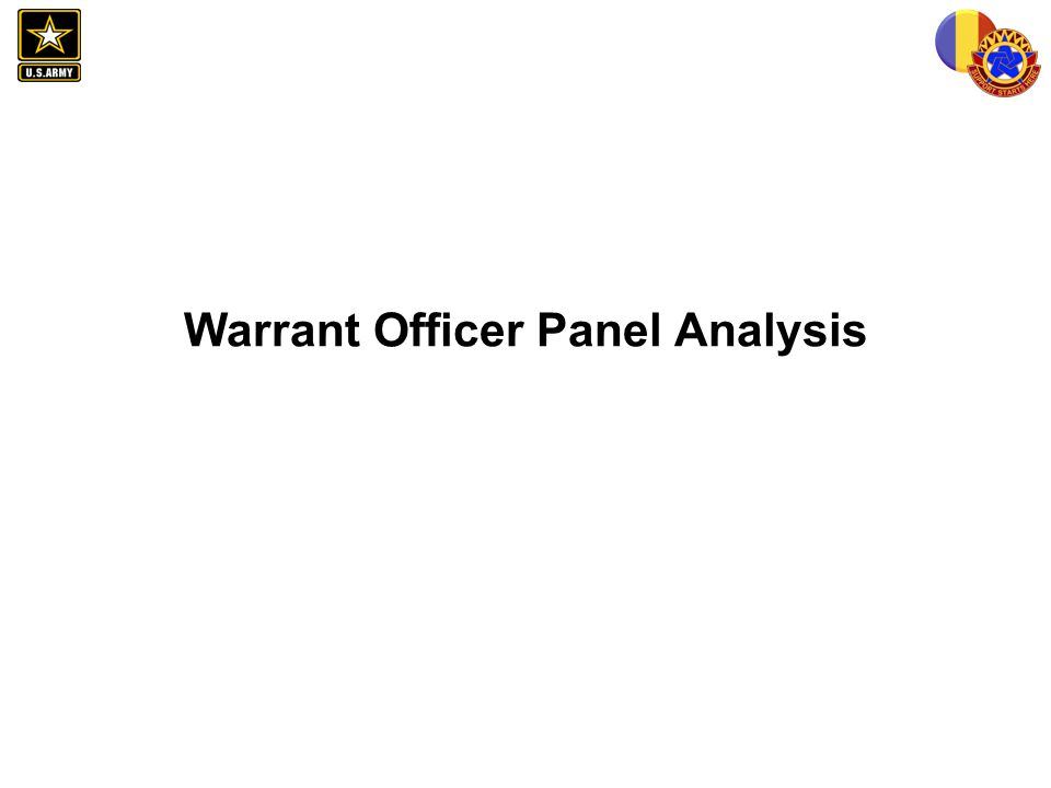 Warrant Officer Panel Analysis
