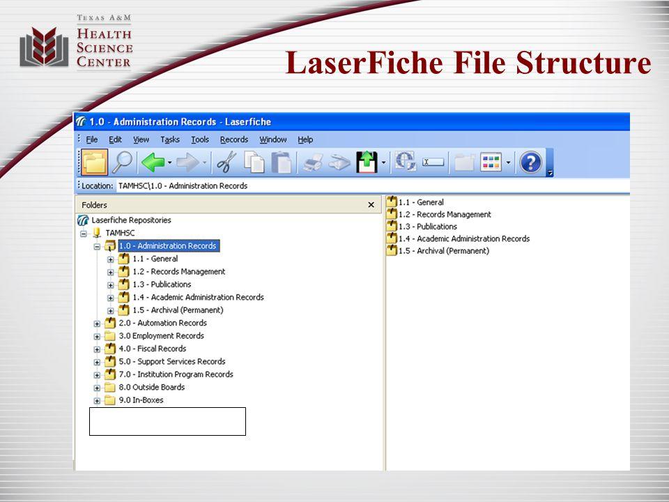 LaserFiche File Structure