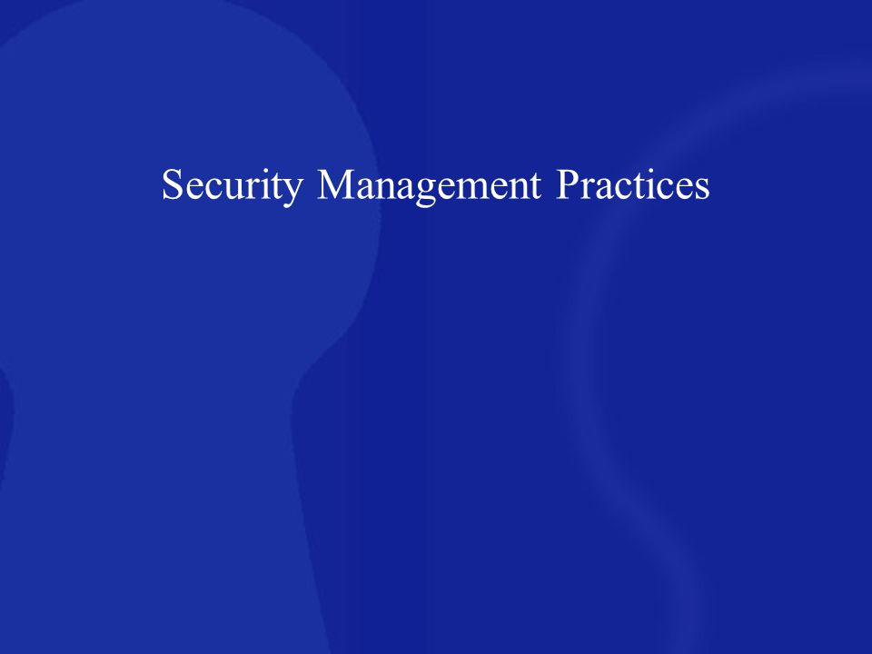 Identify potential losses if security is not properly implemented Trade secrets confidential information personal e-mail adverse publicity viruses, worms, malicious Java and ActiveX applications denial of service hard drive reformats, router reconfigurations M&A financials hacked web pages breach of Human Resources information Security management planning