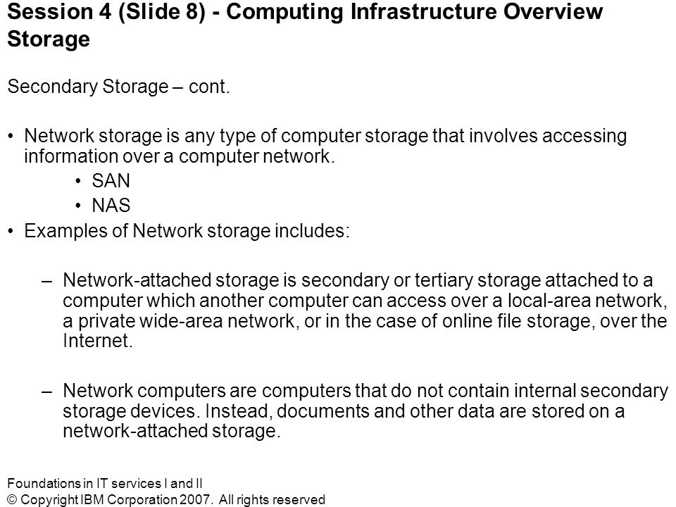 Foundations in IT services I and II © Copyright IBM Corporation 2007.