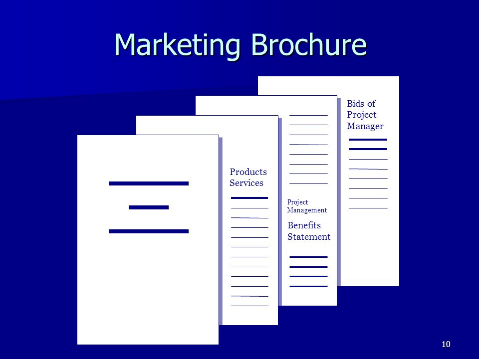 10 Bids of Project Manager Project Management Benefits Statement Marketing Brochure Products Services