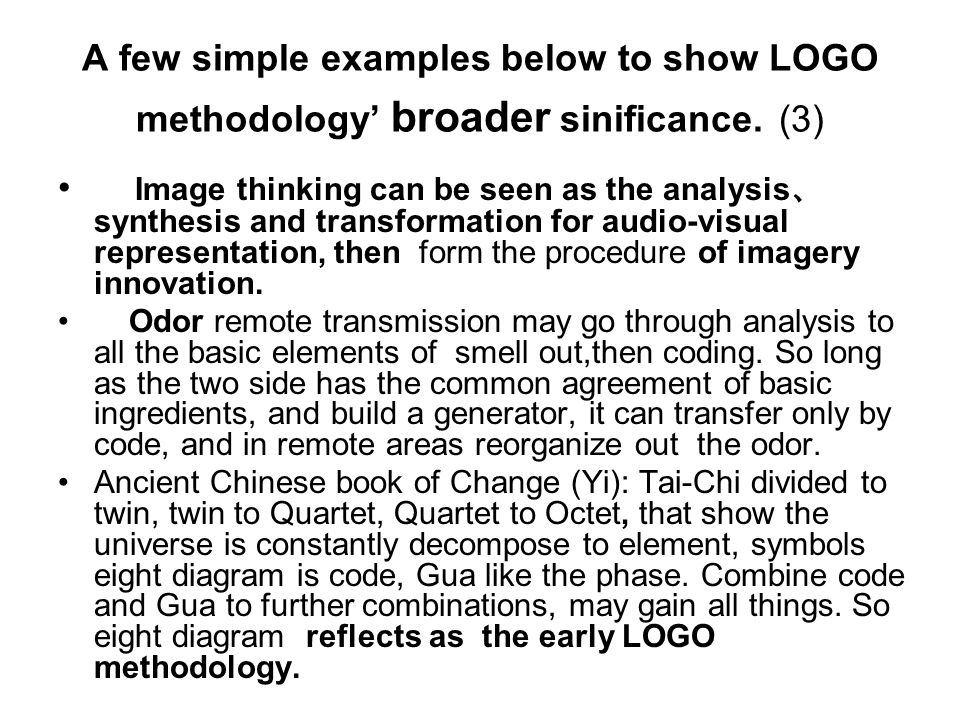 A few simple examples below to show LOGO methodology broader sinificance.