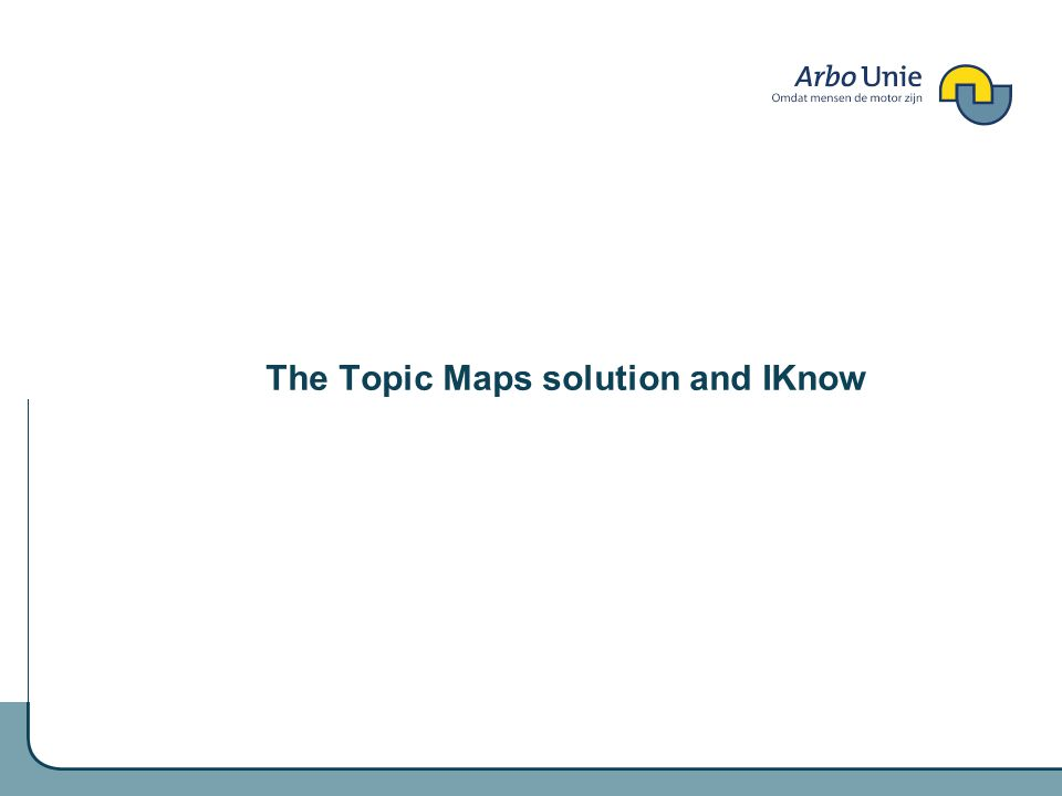 The Topic Maps solution and IKnow