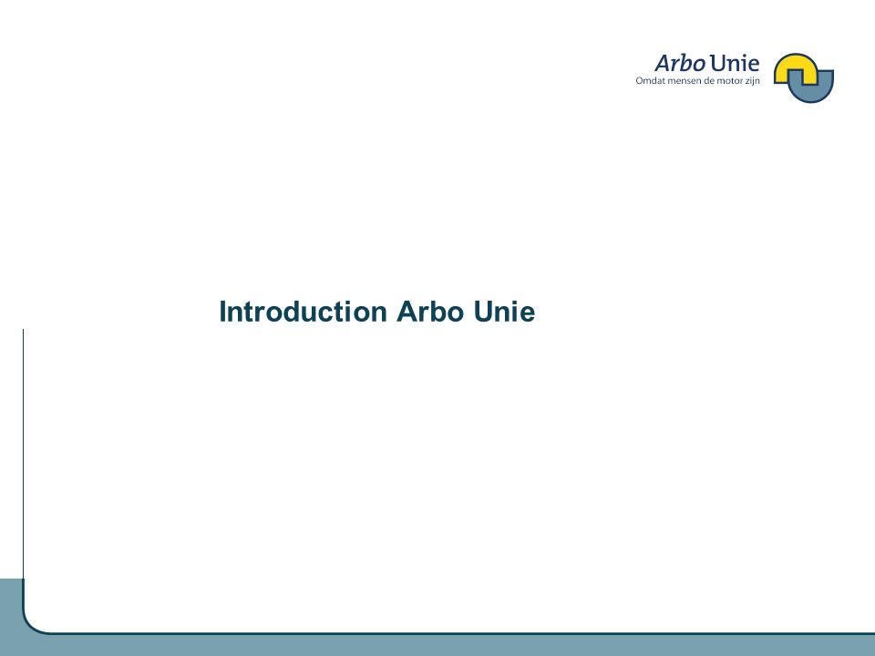 Introduction Arbo Unie