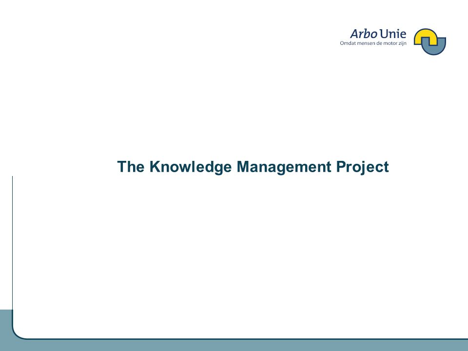 The Knowledge Management Project