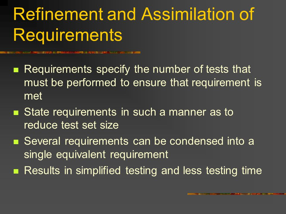 Documentation Techniques and Requirements Medical products increasingly encompass more technology More complex devices lead to longer development schedules Documentation of requirements must be done in a simpler way to reduce overall verification and validation time.