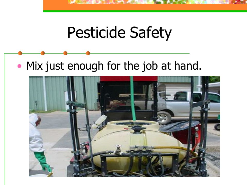 Pesticide Toxicity Categories Toxicity II Chemicals have Warning on label.
