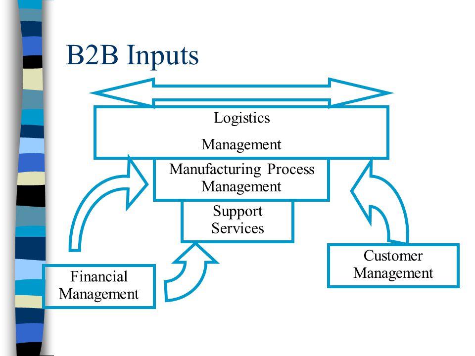 B2B Inputs Manufacturing Process Management Logistics Management Customer Management Support Services Financial Management