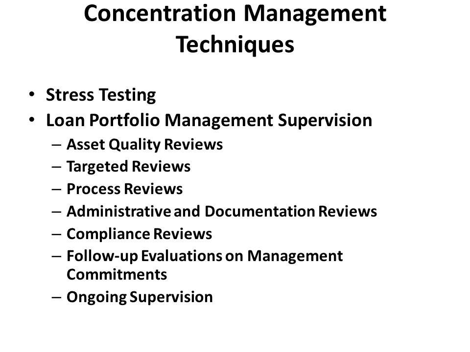 Portfolio Credit Risk Management Processes Assessment of the Credit Culture Portfolio Objectives and Risk Tolerance Limits Management Information Systems