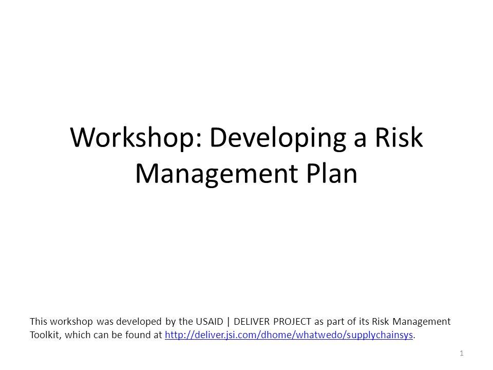 Risk Treatment Process Development of plans to address risks: – Workshop produced initial plans collaborative process.