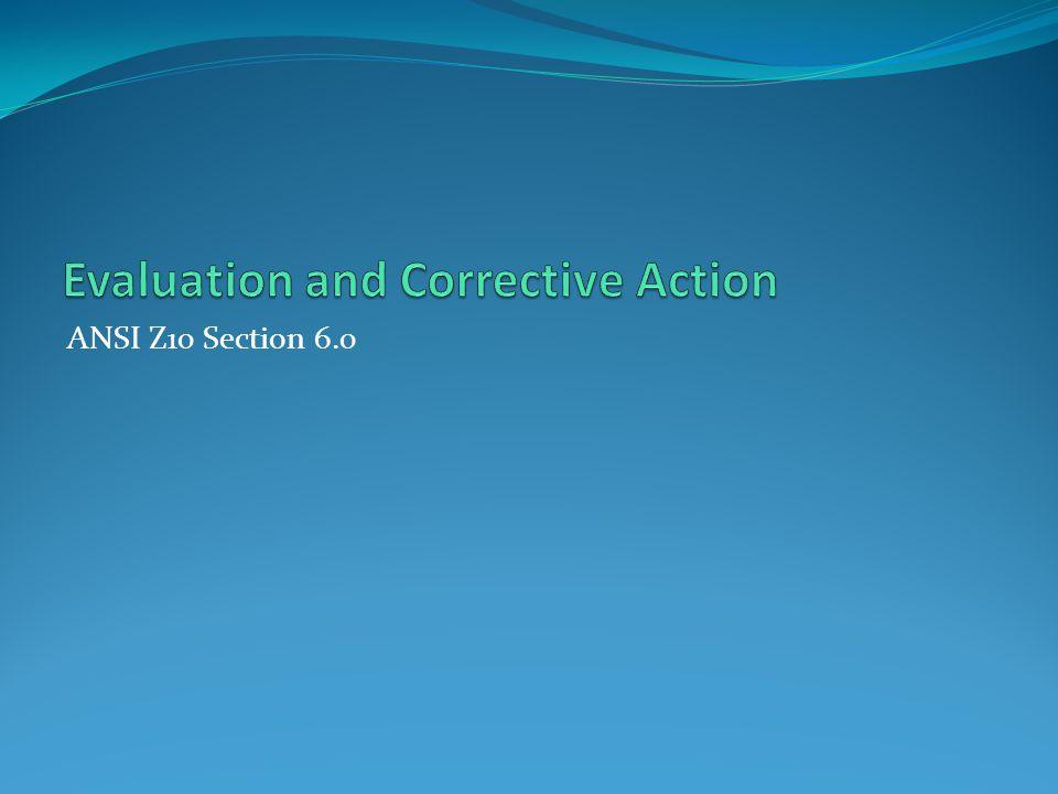 ANSI Z10 Section 6.0