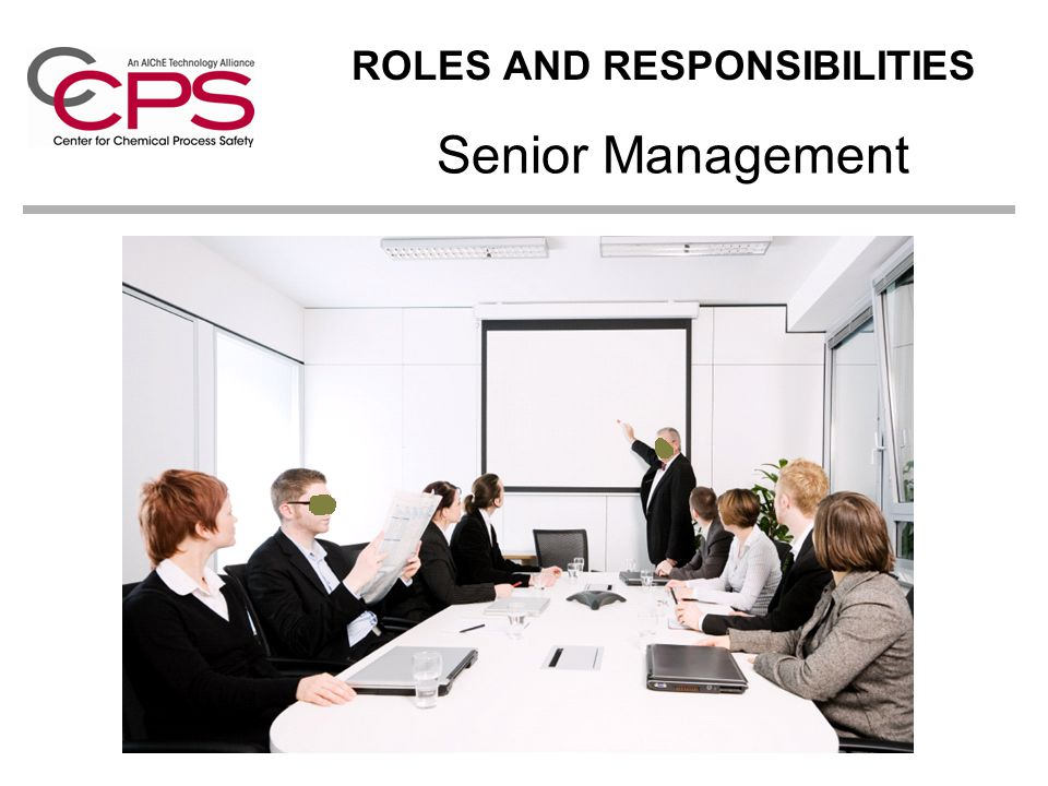 Senior Management ROLES AND RESPONSIBILITIES