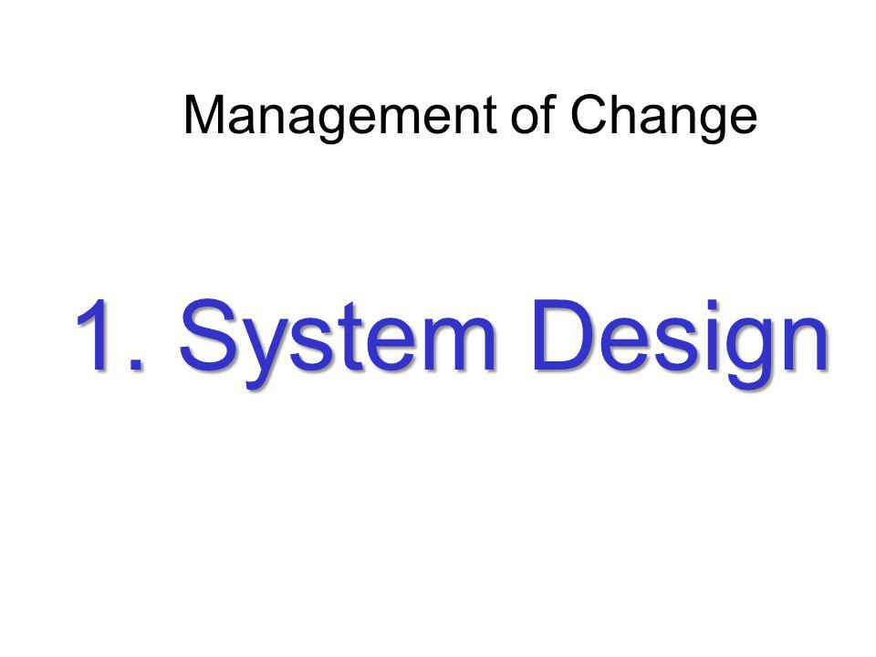 Management of Change 1. System Design