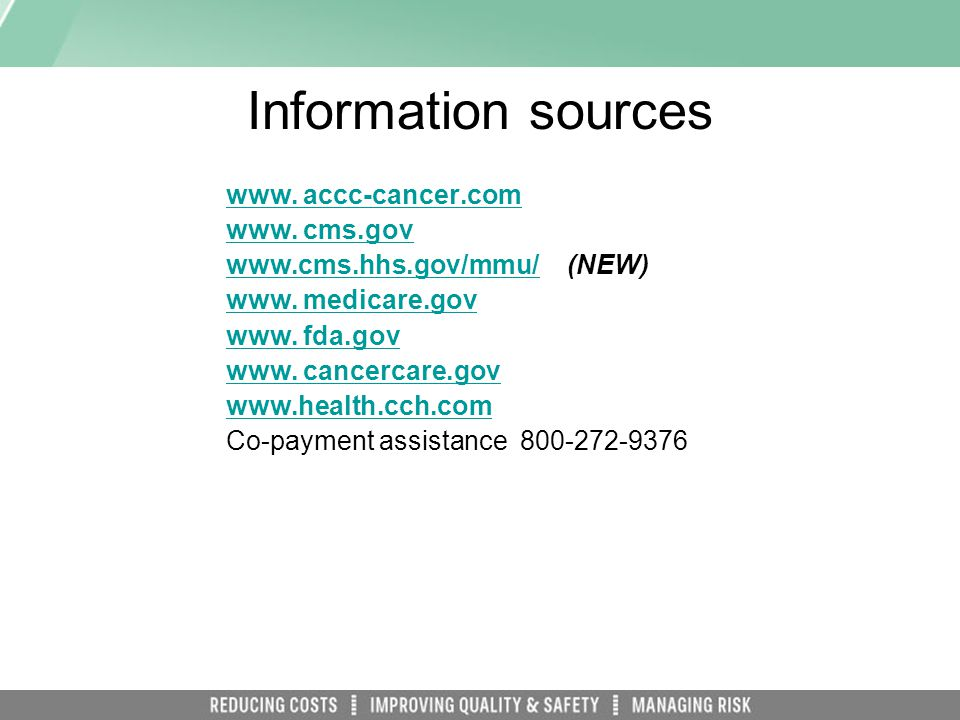 Information sources www.accc-cancer.com www.