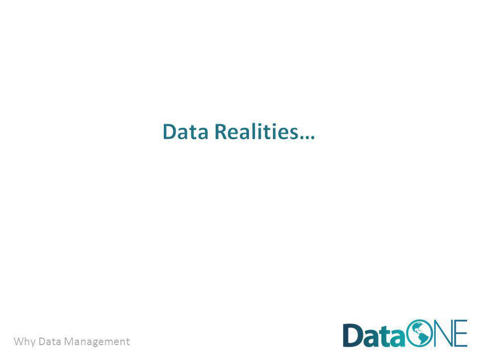 Why Data Management …there are best practices…..and….tools to help.