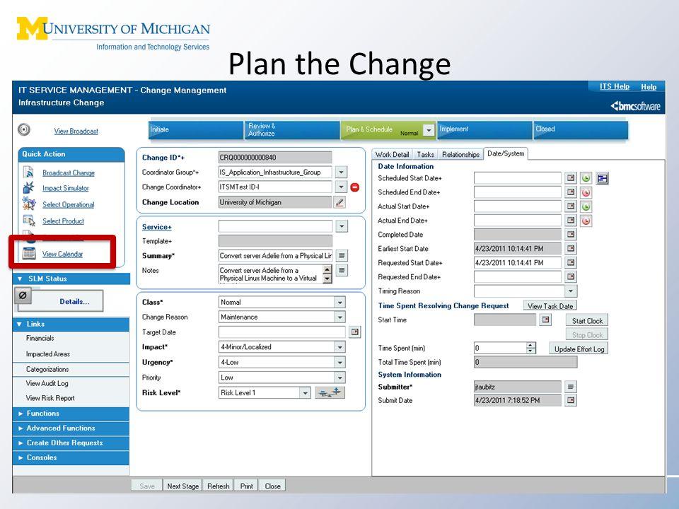 Plan the Change