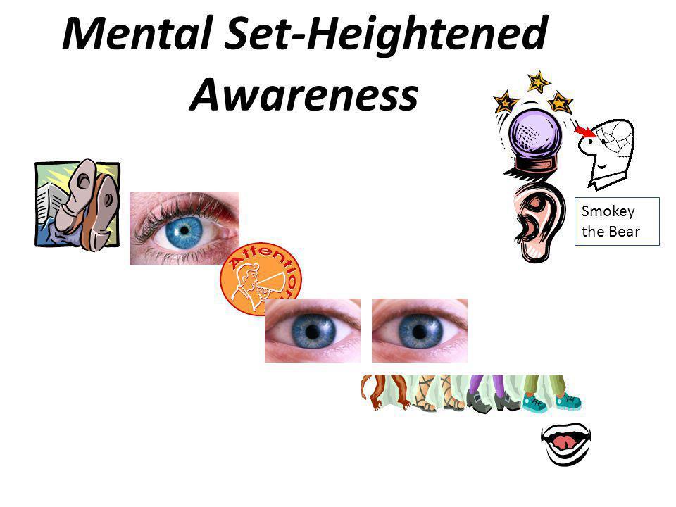 Mental Set-Heightened Awareness Smokey the Bear