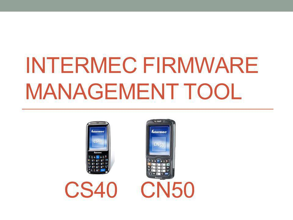 FMT Screen 1.Launch the Firmware Management Tool.