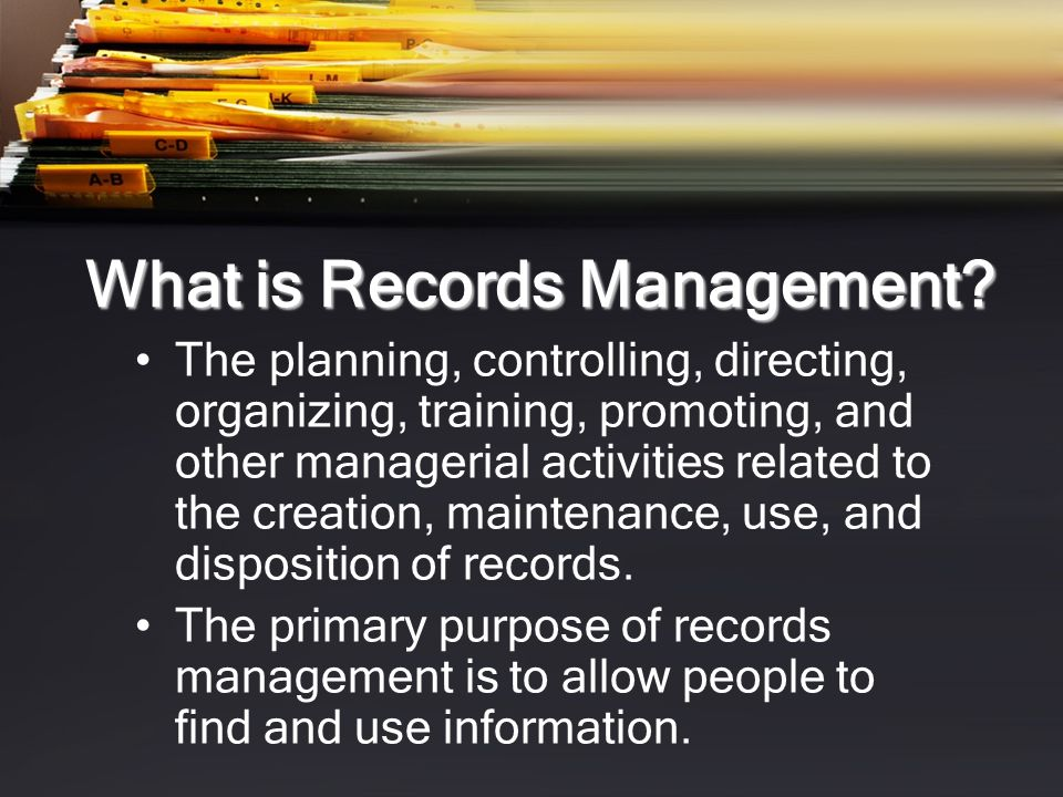 What is Electronic Records Management (ERM).