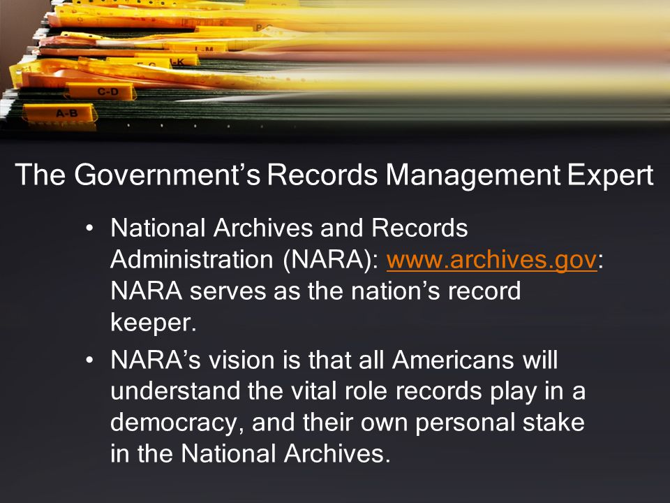 Identifying a Record Was it created in the course of business.