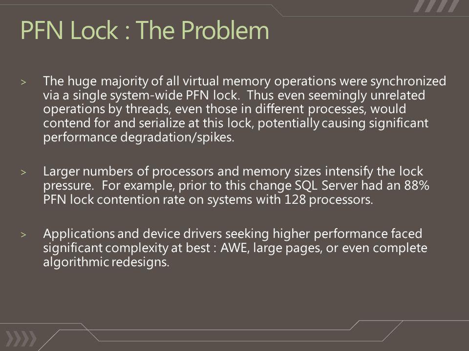 PFN Lock : The Problem