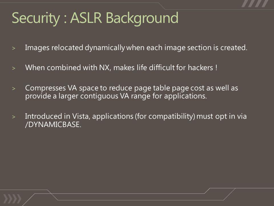 Security : ASLR Background