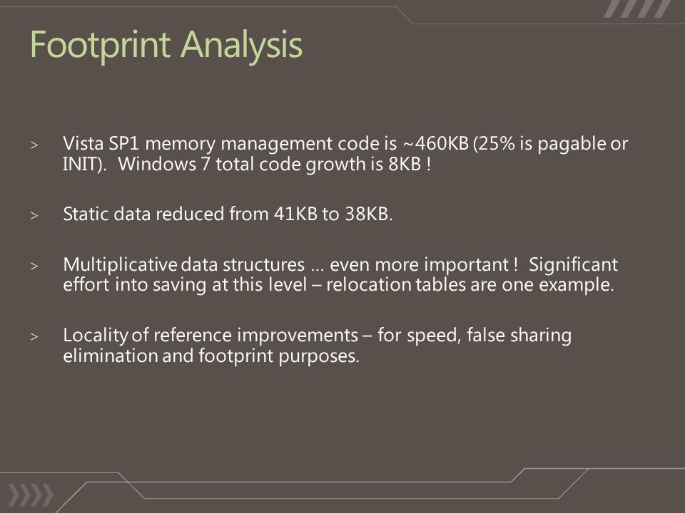 Footprint Analysis
