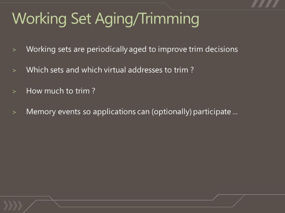 Working Set Aging/Trimming