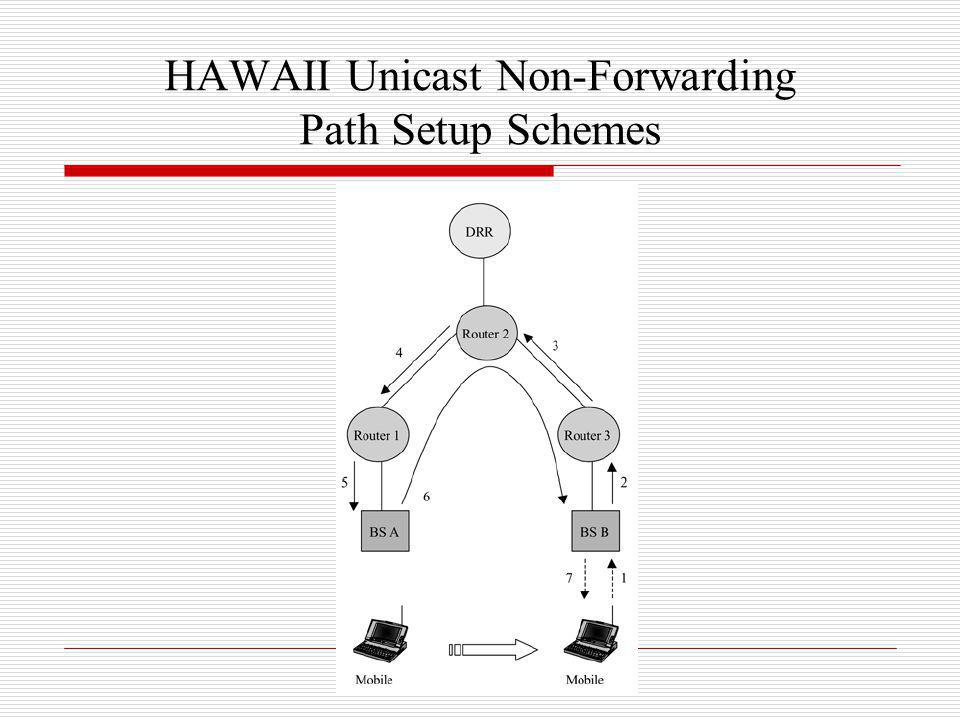 HAWAII Unicast Non-Forwarding Path Setup Schemes