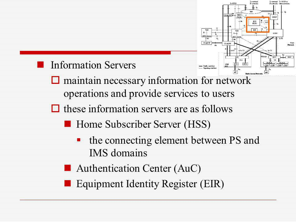 Information Servers maintain necessary information for network operations and provide services to users these information servers are as follows Home