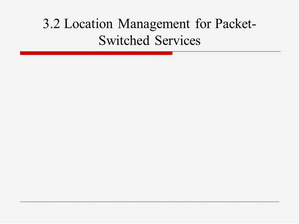 3.2 Location Management for Packet- Switched Services
