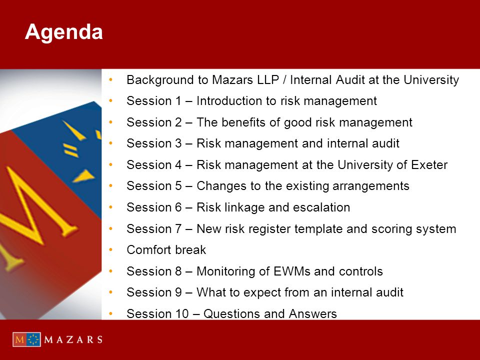 Introduction to Risk Management IIA definition of risk appetite…….