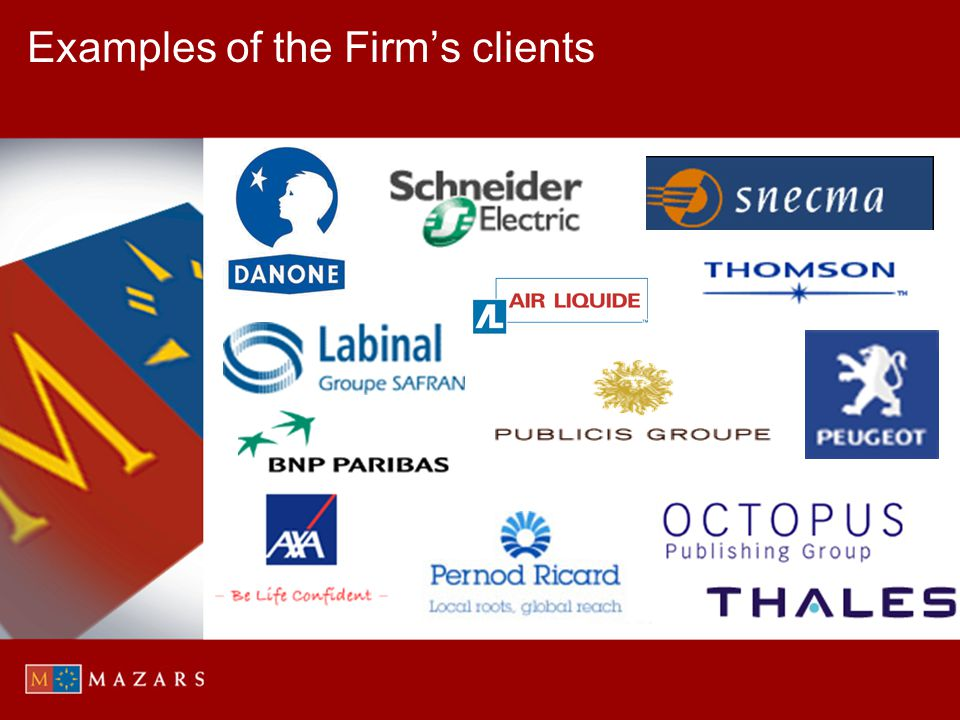 Examples of the Firms clients