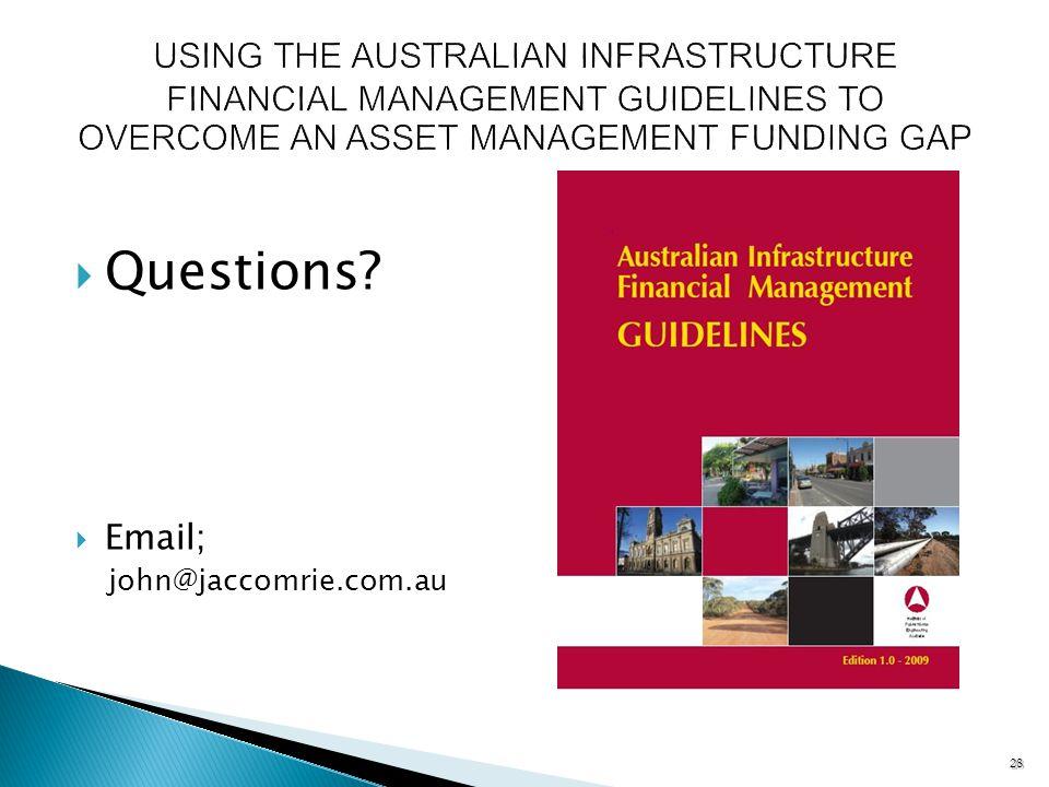 28 Questions Email; john@jaccomrie.com.au