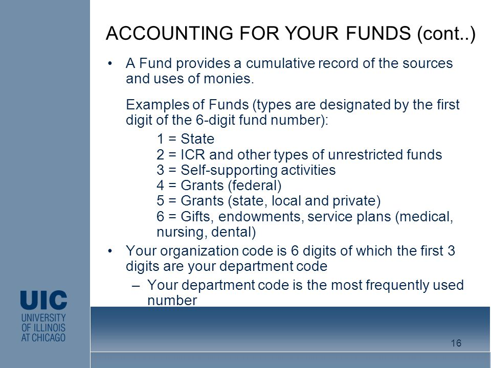 A Fund provides a cumulative record of the sources and uses of monies.