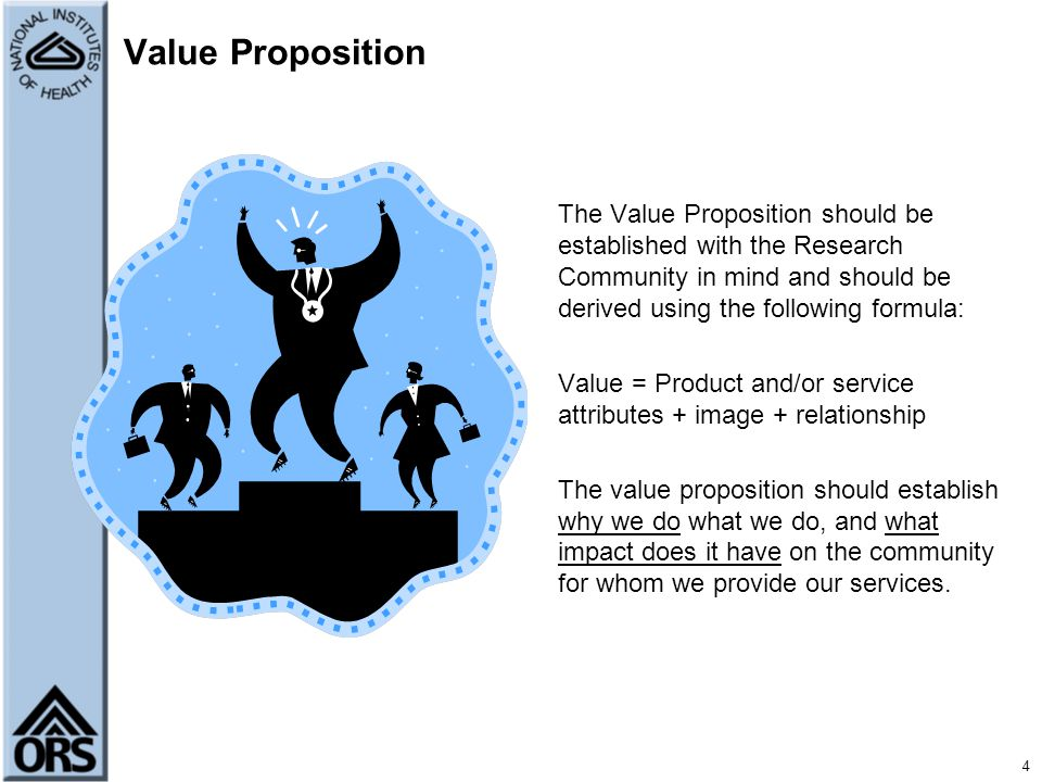 5 What is the value proposition for your Service Group.