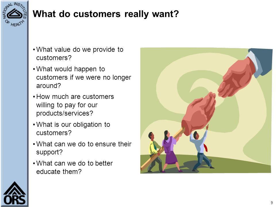 10 What do stakeholders really want.What do our stakeholders value.