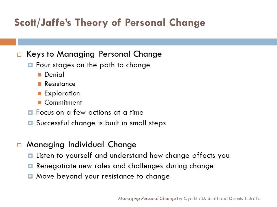 Scott/Jaffes Transition Grid