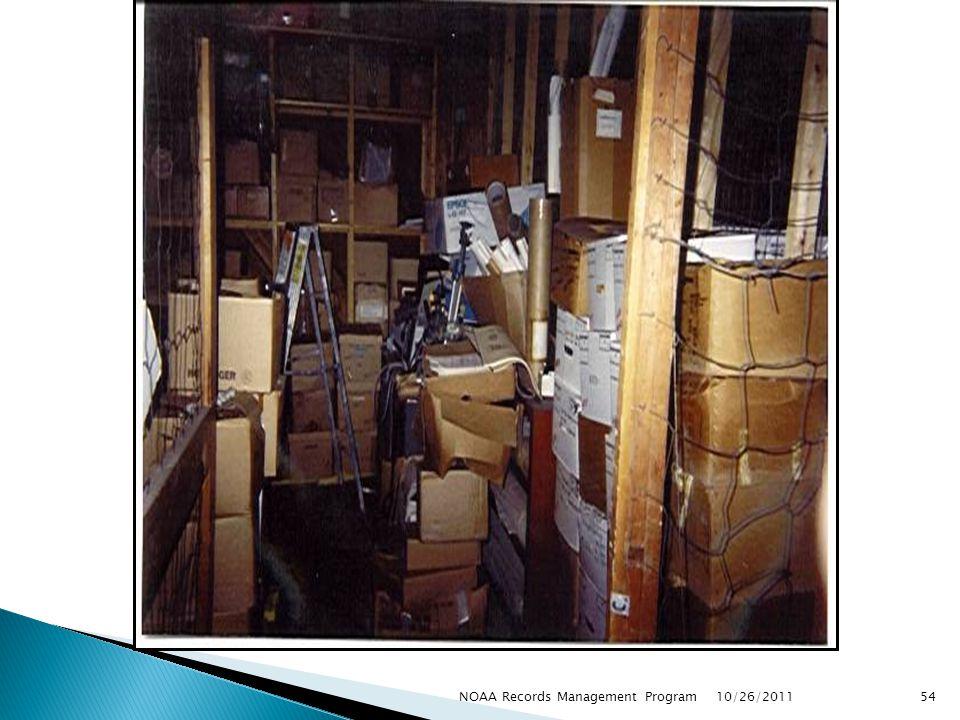 10/26/2011 54NOAA Records Management Program