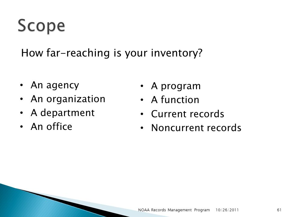 How far-reaching is your inventory.