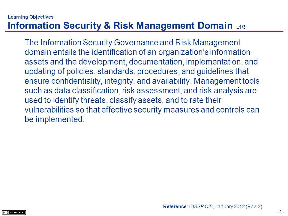 - 73 - Risk Management Risk Assessment Methods Quantitative ALE = SLE x ARO SLE = AV x EF Annualized Lost Expectance (ALE).
