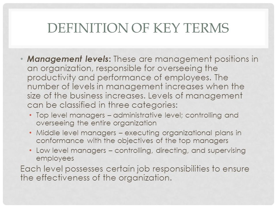 DEFINITION OF KEY TERMS (CONTINUED) Gender equality : Equal rights, responsibilities and opportunities of women and men.