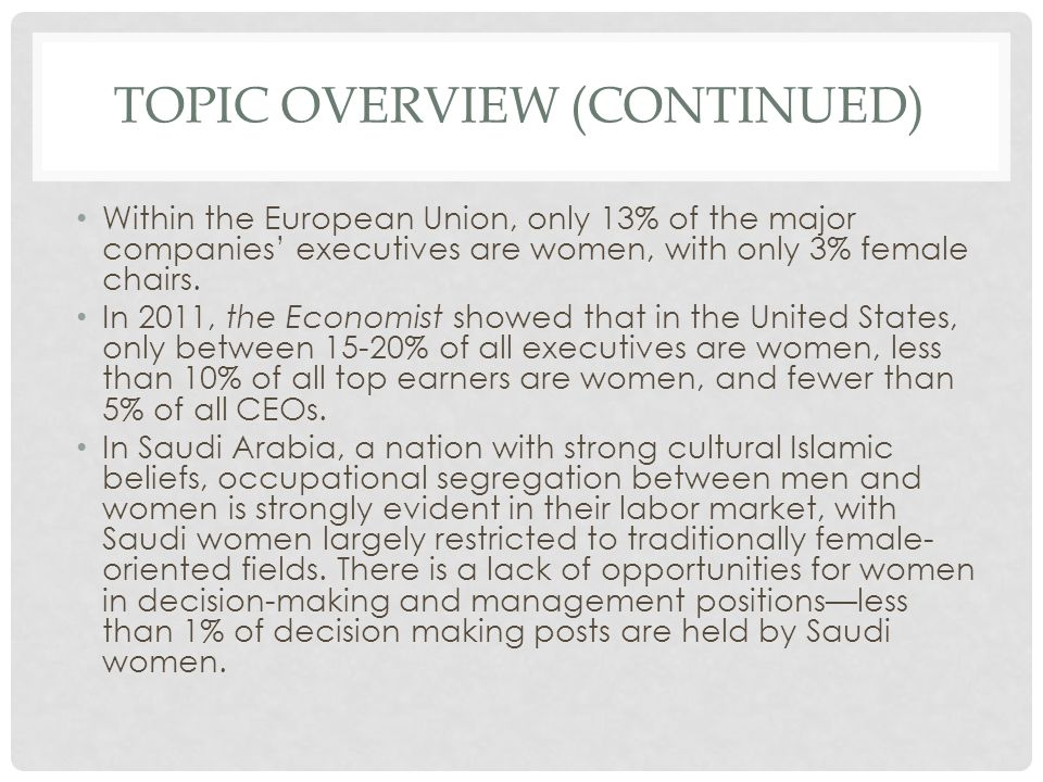 Barriers to womens rise in management levels :