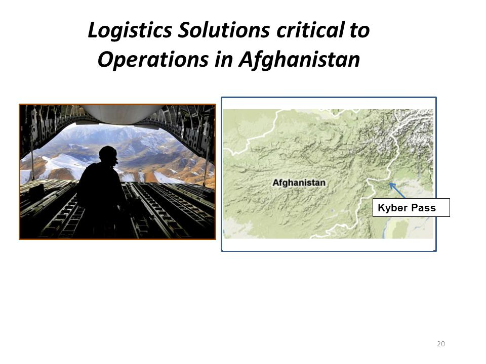 Logistics Solutions critical to Operations in Afghanistan Kyber Pass 20