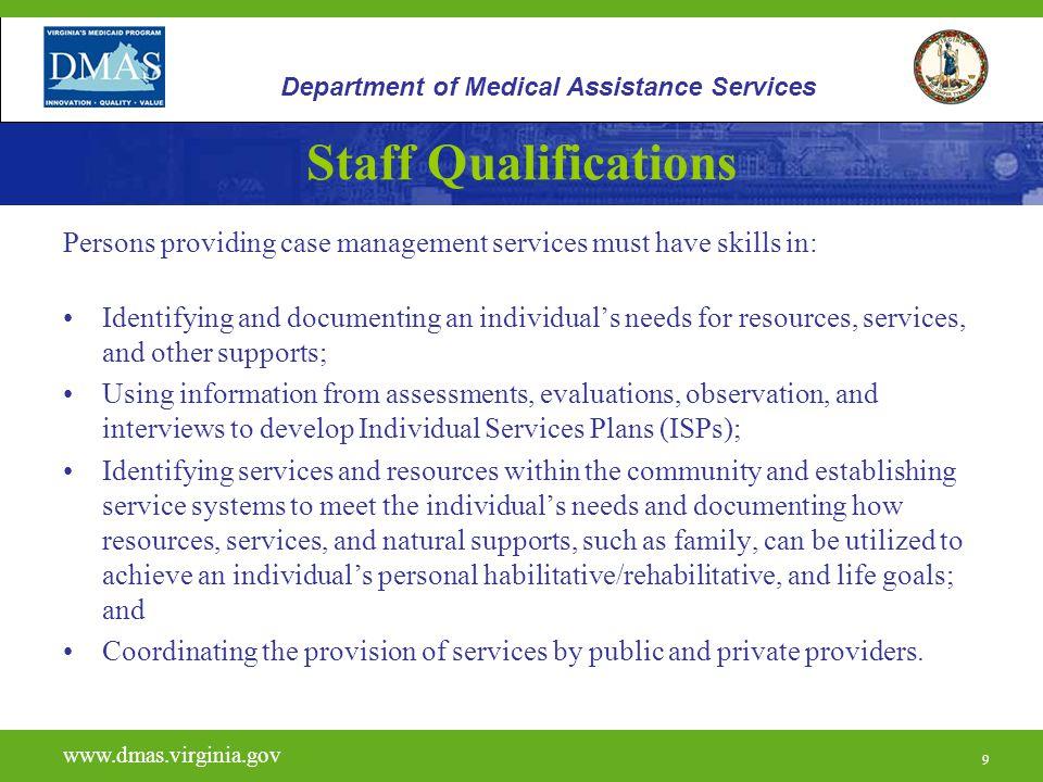 30 H0023 www.dmas.virginia.gov 30 Department of Medical Assistance Services Units and Reimbursement
