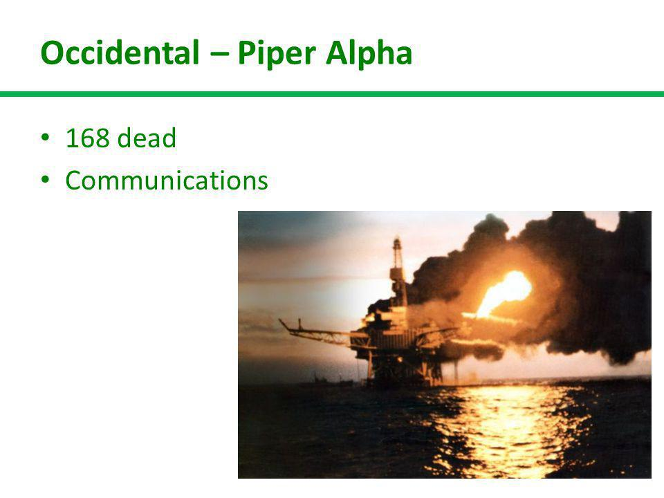Occidental – Piper Alpha 168 dead Communications