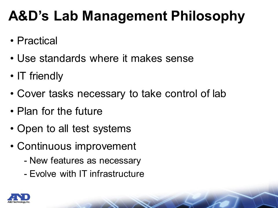A&D Lab Management Solution