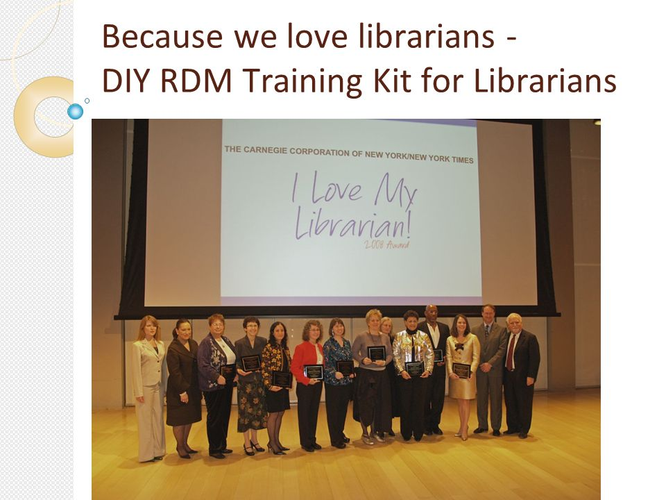 Because we love librarians - DIY RDM Training Kit for Librarians
