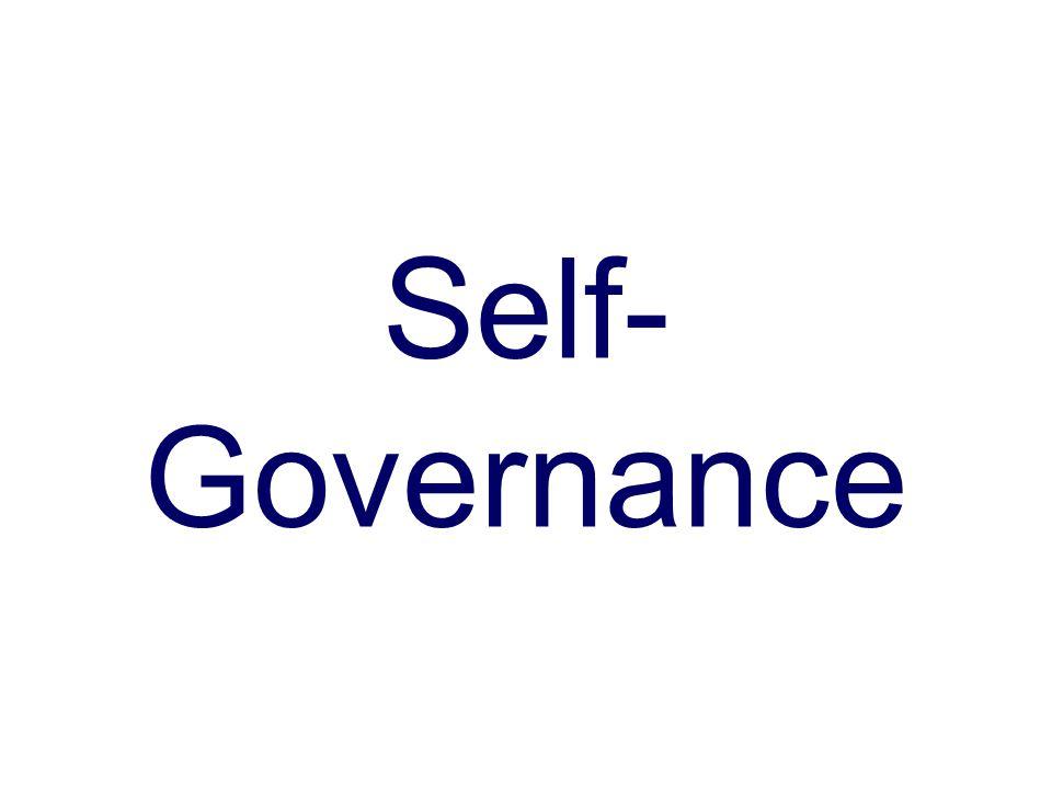 Self- Governance