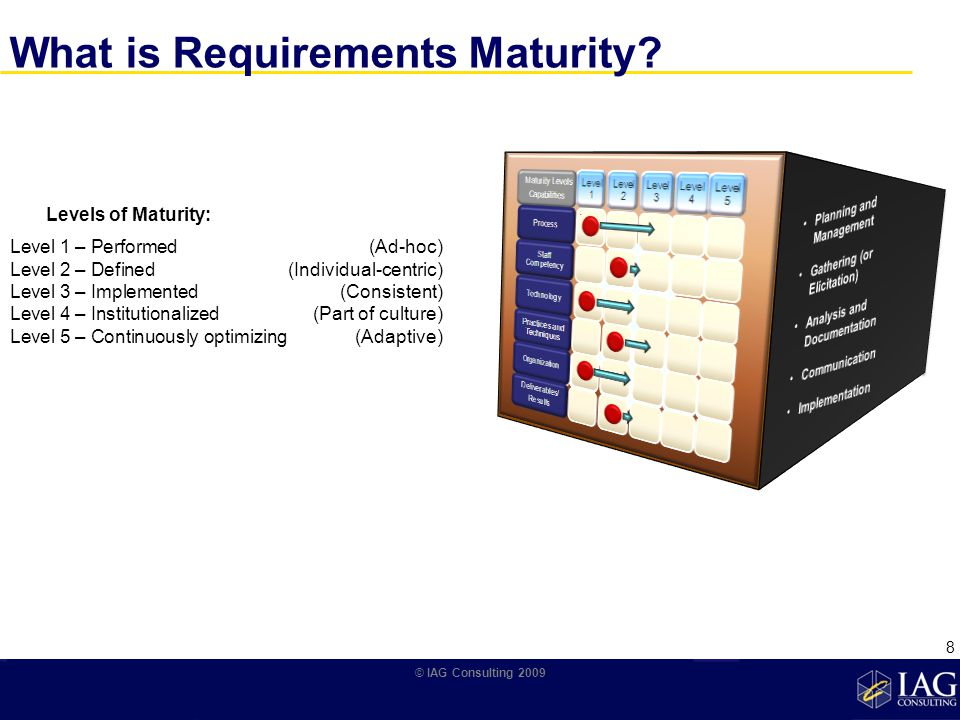 What is Requirements Maturity.